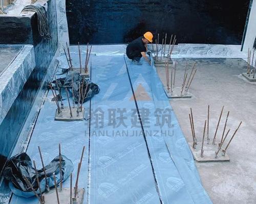 昆山某地下水池防水施工
