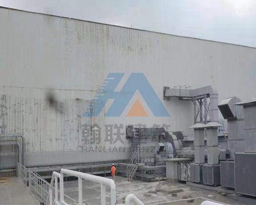 海口某工厂墙面翻新前